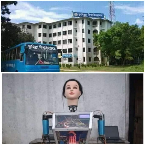 করোনা পরীক্ষা ও আগুন লাগায় শতর্ক করবে কুমিল্লা বিশ্ববিদ্যালয়ের রোবট ব্লুবেরি